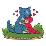 Little Red Riding Hood. Children illustration. Fairy tail illustration. stock illustration