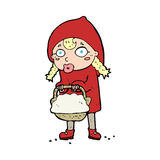 Little red riding hood cartoon Stock Photography