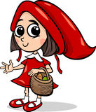 Little red riding hood cartoon Stock Photos
