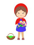 Little Red Riding Hood cartoon illustration Stock Photography