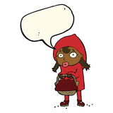 little red riding hood cartoon with speech bubble Stock Photos