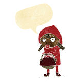 Little red riding hood cartoon with speech bubble Stock Photos