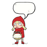Little red riding hood cartoon with speech bubble Stock Photo