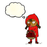 Little red riding hood cartoon with thought bubble Stock Photography