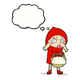 Little red riding hood cartoon with thought bubble Stock Photo