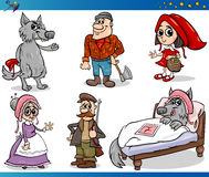 Little red riding hood characters Royalty Free Stock Photos
