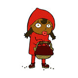 little red riding hood comic cartoon Stock Images