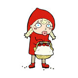Little red riding hood comic cartoon Royalty Free Stock Images