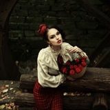 Little Red Riding Hood. Fairy tale Stock Photography