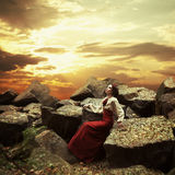 Little Red Riding Hood. Fairy tale Royalty Free Stock Photography