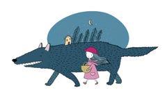 Little Red Riding Hood fairy tale. Stock Photos