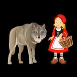 Little red riding hood vector illustration