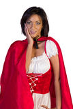 Little red riding hood with her hands on her cheeck Royalty Free Stock Photography
