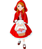 Little red riding hood. Illustration of little red riding hood Stock Image