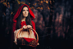 Free Little Red Riding Hood In The Forest Royalty Free Stock Photos - 77129688