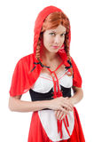 Little red riding hood isolated on white Royalty Free Stock Photo
