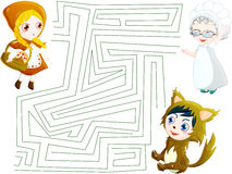 Little red riding hood maze Stock Image