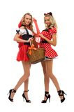 Little Red Riding Hood and mouse shape Royalty Free Stock Photo