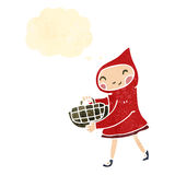 Little red riding hood retro cartoon Royalty Free Stock Photos