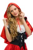 Little Red Riding Hood shape Stock Image