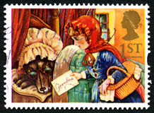 Little Red Riding Hood UK Postage Stamp Royalty Free Stock Photos
