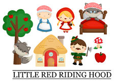 Little red riding hood. A vector of little red riding hood vector illustration