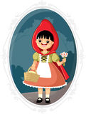Little Red Riding Hood Vector Cartoon Stock Image