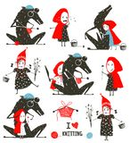 Little Red Riding Hood and Wolf Fairytale Collection Royalty Free Stock Photos