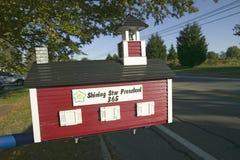 Little Red School House in Newport, Rhode Island Stock Photo