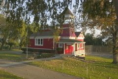 Little Red Schoolhouse Stock Photography
