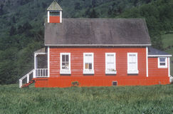 Little Red Schoolhouse, Northern CA Stock Images