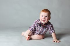 Little red in the shirt Royalty Free Stock Images