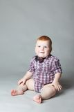 Little red in the shirt Royalty Free Stock Photography