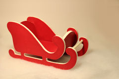 Little Red Sled. Little red and white christmas sled Stock Image