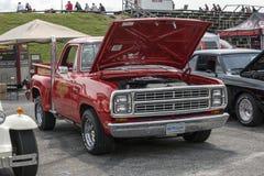 Little red truck Stock Photos