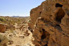 Little red wadi in Negev desert. Stock Photo