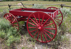 Little Red Wagon Stock Photos