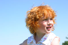 Little redhead Royalty Free Stock Photos