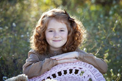 Little redhead backlit by the sun Royalty Free Stock Images