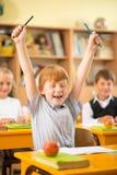 Little redhead schoolboy Royalty Free Stock Image