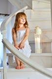 Little redheaded girl Stock Photo