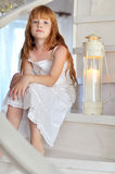 Little redheaded girl Stock Photography
