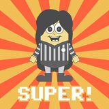 Little referee cartoon Royalty Free Stock Image