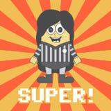 Little referee cartoon Royalty Free Stock Image