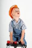 Little Repair Man Royalty Free Stock Images