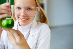 Little researcher Royalty Free Stock Images