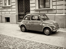 Little retro car. Vintage image with little retro car Royalty Free Stock Photography