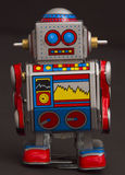 little retro robot Arkivbild
