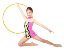 Little rhythmic gymnast Stock Photo