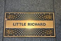 Little Richard plakieta Zdjęcia Royalty Free